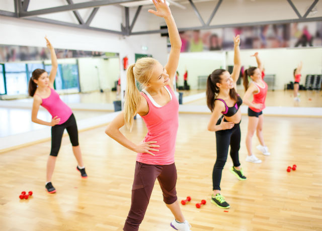 A fitness class to build muscles and stretch the muscles